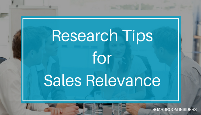 Research Tips for Sales Relevance Sales Conversation Prospecting