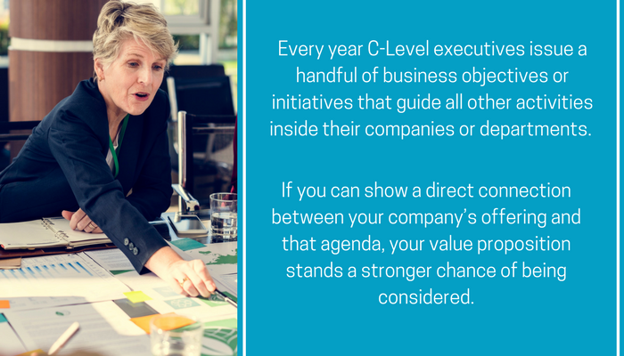 every year C-Level executives issue a handful of business objectives or initiatives that guide all other activities inside their companies or departments..png