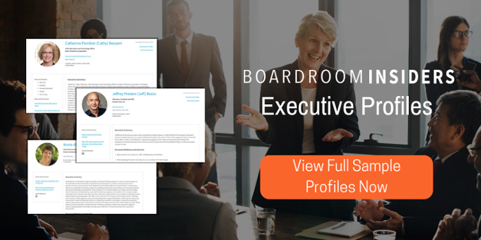 Executive Profiles by Boardroom Insiders