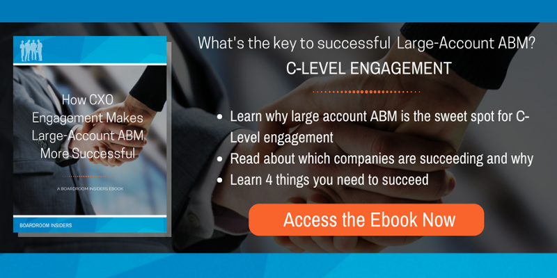 What's the key to successful large account abm?