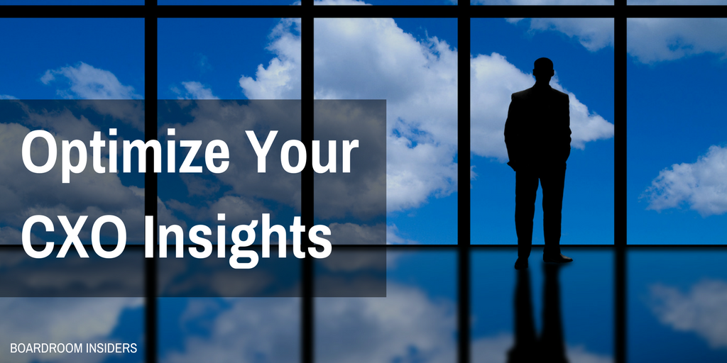 What Real CXO Insight Looks Like…and How to Connect the Dots